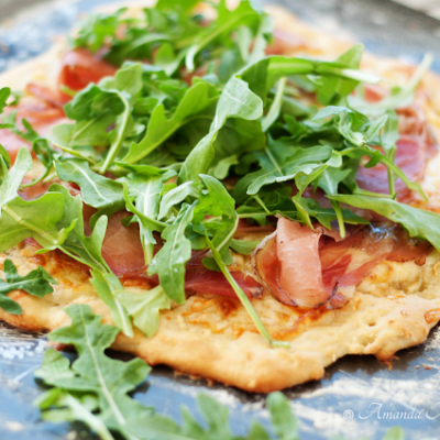 Summer Arugula & Prosciutto Pizza with Melone
