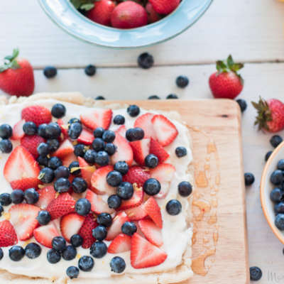 Happy Fourth! Summer Berry Tart Drizzled in Warm Honey