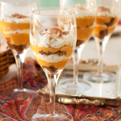 Happy Thanksgiving! Pumpkin Molasses Cookie Trifle