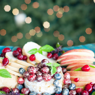 Happy New Year! Sparkling Berry Baked Brie