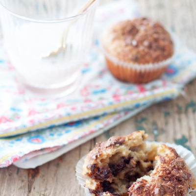 Banana Chocolate Yogurt Muffins