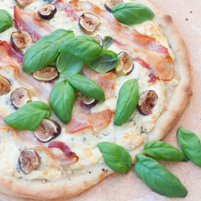 Fig, Bacon & Goat Cheese Pizza