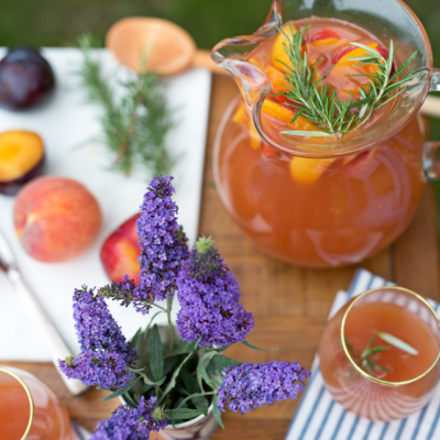 Summer Stone Fruit Sangria