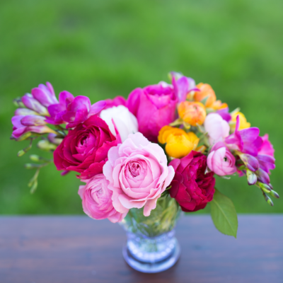 Roses and Ranuculus