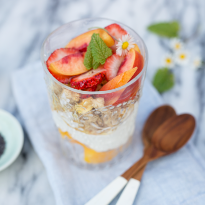 Mango Parfaits with Rose Honey