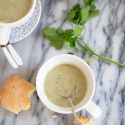 Zagreb Market Inspiration: Leek and Potato Soup with Porcini