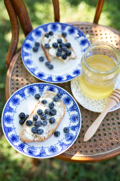Simple & Delicious: Blueberry, Feta & Honey Toast